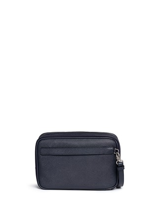Back View - Click To Enlarge - GIORGIO ARMANI - Saffiano leather travel clutch
