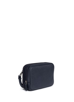 Front View - Click To Enlarge - GIORGIO ARMANI - Saffiano leather travel clutch