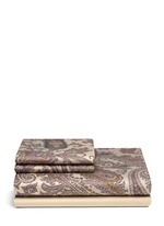 Zanzibar Dominca paisley print king size duvet set