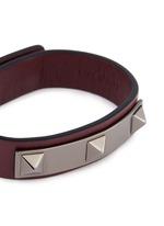 'Rockstud' metal bar leather bracelet