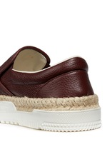 Leather espadrille skate slip-ons