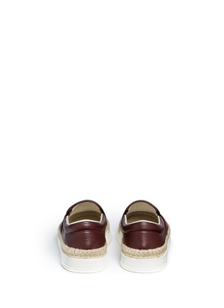 Back View - Click To Enlarge - Valentino - Leather espadrille skate slip-ons