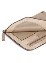 'Rockstud' leather zip pouch
