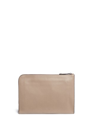 Back View - Click To Enlarge - Valentino - 'Rockstud' leather zip pouch