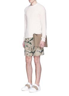 Valentino'Rockstud' leather zip pouch