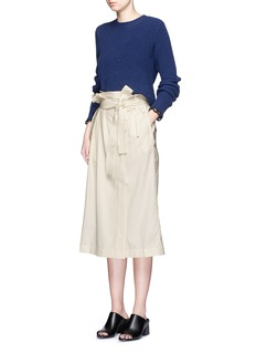 3.1 PHILLIP LIMBelted paperbag waist cotton skirt