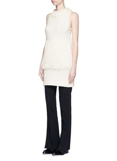 3.1 PHILLIP LIM Fringe knit tank dress