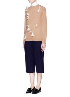 3.1 PHILLIP LIMFringe embellishment wool-yak-cashmere sweater