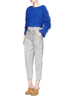 3.1 PHILLIP LIMPaper bag stripe cropped pants