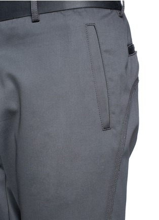 Detail View - Click To Enlarge - Lanvin - Zip cuff biker pants