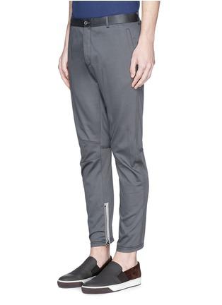 Front View - Click To Enlarge - Lanvin - Zip cuff biker pants