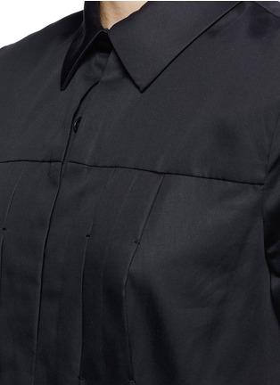 Detail View - Click To Enlarge - JASON WU - Box pleat cotton poplin shirt dress