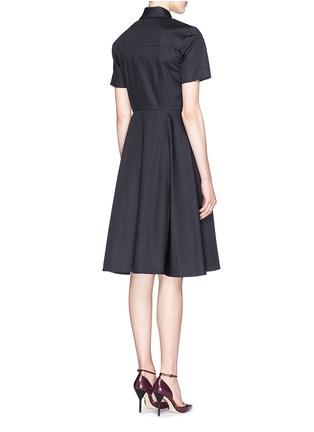 Back View - Click To Enlarge - JASON WU - Box pleat cotton poplin shirt dress