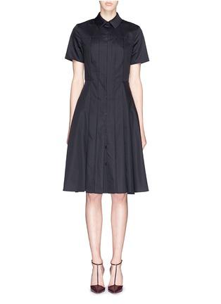 Main View - Click To Enlarge - JASON WU - Box pleat cotton poplin shirt dress