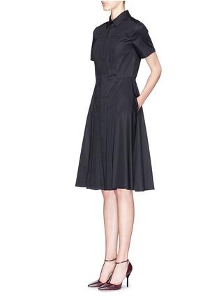 Figure View - Click To Enlarge - JASON WU - Box pleat cotton poplin shirt dress