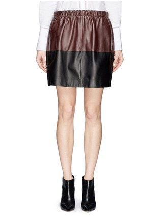 首图 - 点击放大 - Vince - Colourblock leather skirt