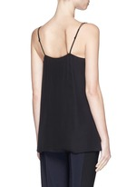Ladder stitch trim silk chiffon camisole