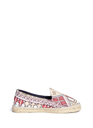 首图 - 点击放大 - MANEBÍ - 'Yucatan' cross stitch canvas espadrilles