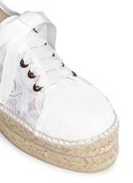 'Paris' lace espadrille sneakers