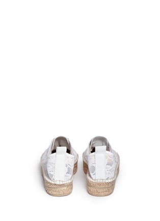 背面 - 点击放大 - MANEBÍ - 'Paris' lace espadrille sneakers