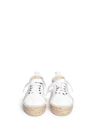 模特儿示范图 - 点击放大 - MANEBÍ - 'Paris' lace espadrille sneakers