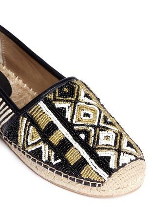 Detail View - Click To Enlarge - Sam Edelman - 'Lida' beaded calf hair espadrilles