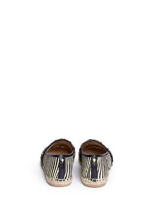 Back View - Click To Enlarge - Sam Edelman - 'Lida' beaded calf hair espadrilles