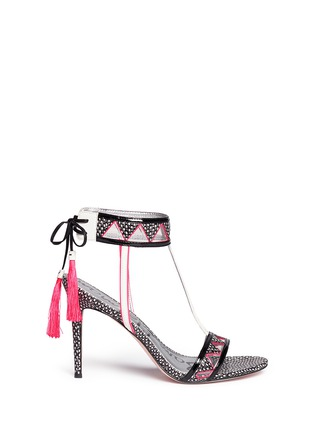 Main View - Click To Enlarge - Sam Edelman - 'Sadie' Aztec pattern snake leather sandals