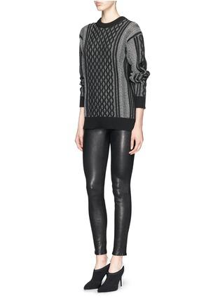 Figure View - Click To Enlarge - J Brand - 'Edita' leather leggings