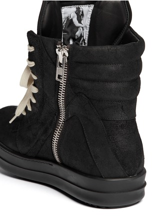 Detail View - Click To Enlarge - Rick Owens - Geobasket suede high-top sneakers