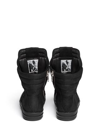 Back View - Click To Enlarge - Rick Owens - Geobasket suede high-top sneakers