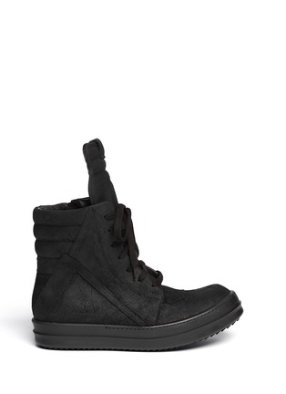 Main View - Click To Enlarge - Rick Owens - Geobasket suede high-top sneakers