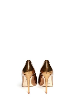 Back View - Click To Enlarge - DIANE VON FURSTENBERG - Bethany metallic leather pumps
