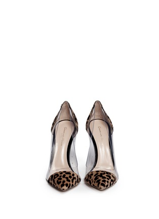 Figure View - Click To Enlarge - Gianvito Rossi - Clear PVC leopard pony hair pumps