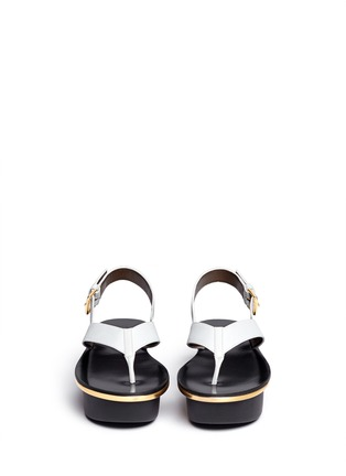 Figure View - Click To Enlarge - Marni - Textured leather thong flatform sandals