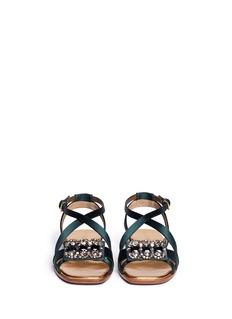 MARNIJewel satin sandals