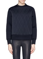 NEIL BARRETTQuilt sweatshirt