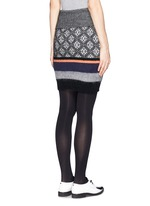 Mohair wool jacquard knit skirt