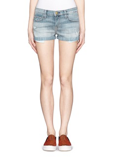 CURRENT/ELLIOTT The Girlfriend distressed denim shorts