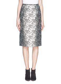 PREEN BY THORNTON BREGAZZI'Elster' metallic jacquard pencil skirt