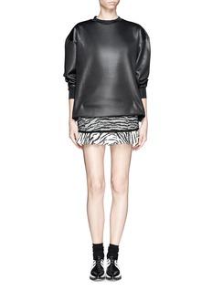 TOGA ARCHIVESZebra print twill flounce skirt