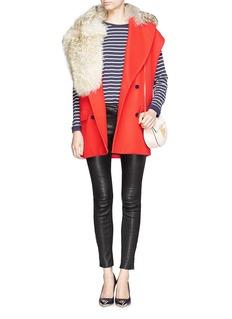 MSGMCoyote fur collar wool gilet