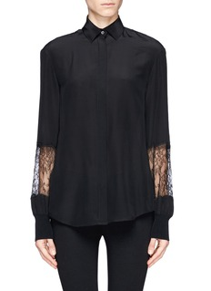 JASON WU Lace sleeve silk shirt