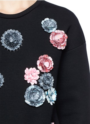Detail View - Click To Enlarge - MSGM - Sequin floral sweatshirt