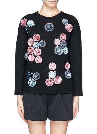 Main View - Click To Enlarge - MSGM - Sequin floral sweatshirt