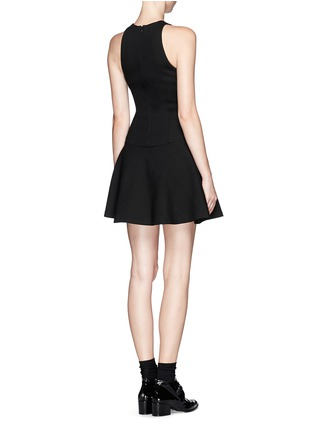 Back View - Click To Enlarge - MSGM - Drop waist flare dress