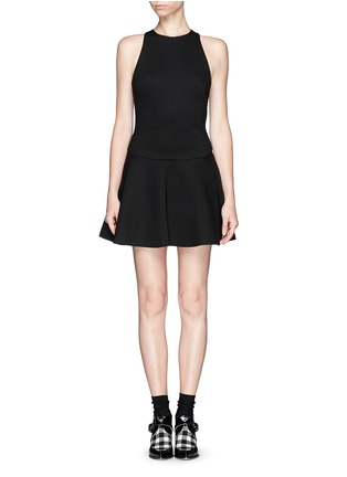 Main View - Click To Enlarge - MSGM - Drop waist flare dress