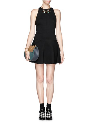 Figure View - Click To Enlarge - MSGM - Drop waist flare dress