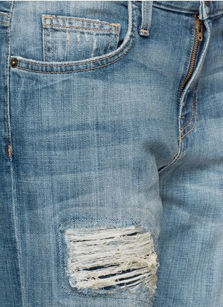 Detail View - Click To Enlarge - Current/Elliott - The Boyfriend distressed jeans