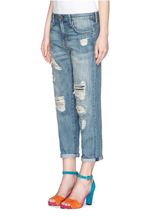 Front View - Click To Enlarge - Current/Elliott - The Boyfriend distressed jeans